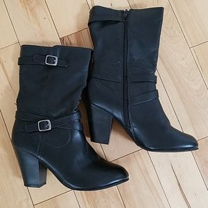 Faded Glory Faux Leather Mid-Calf Boots ▪